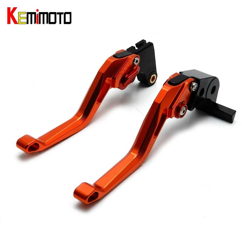 KEMiMOTO CNC Pivot Brake Clutch Lever 5D Ajuster Short Lever for KTM 125 390 200 690 Duke SMC/SMCR DUKE RC125 RC390 RC200