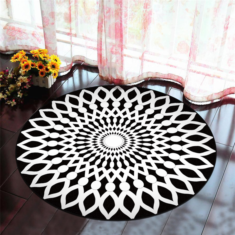 Round Creative 3D Printed carpets for living room coffee table bedroom Area Rugs Kids Room computer chair Anti-slip mat yoga Pad