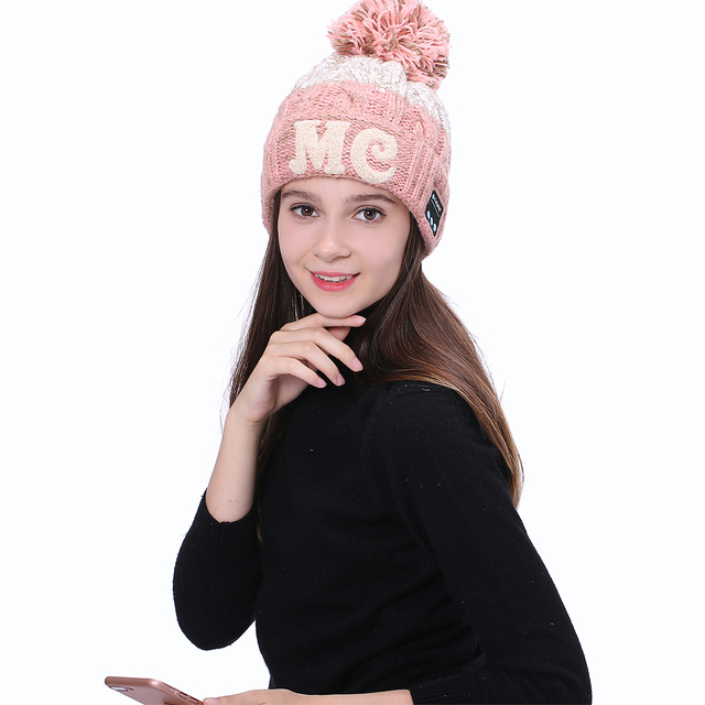 Ubti ME Winter Warm Music Hat Bluetooth Headphone Sport Ha nds free Call Wireless Earphones Bluetooth Headband Cap Headset