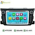 MTK MT3360 Wince 6.0 Автомобильный DVD Мультимедиа Плеер Радио Аудио Стерео экран ПК GPS Поддержка 3 Г WI-FI Для Benz Smart Fortwo 2011-2014