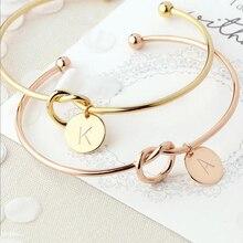 Shuangshuo персонализированные буквы A-S узел начальный браслет ювелирные изделия узел браслеты аксессуары ювелирные изделия для подарка на день рождения