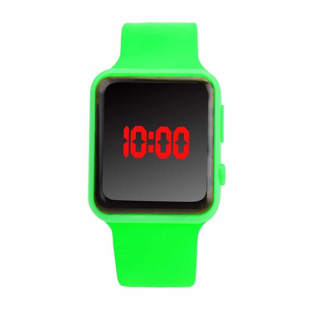 יוניסקס דיגיטלי LED ספורט שעון סיליקון להקת יד שעונים גברים ילדי אופנה שעון אלקטרוני דיגיטלי שעון מתנות Hodinky