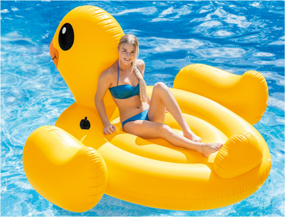 Beach Yellow Rubber Duck Bath Swim Pool Toy Fun Big Inflatable Water Air  Mattress Inflatable Float Pool Giant Pool Floats Adults
