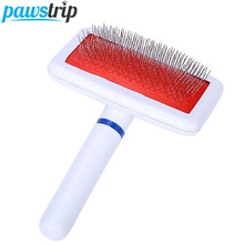 Pet Shedding Grooming Dog Hair Brush Comb Plastic Handle Brush Airbag Stainless Steel Pin Comb For