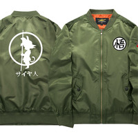 New men's fashion items in spring and fall, dragon ball, costume, air force No.1 / casual jacket / size m 6xl