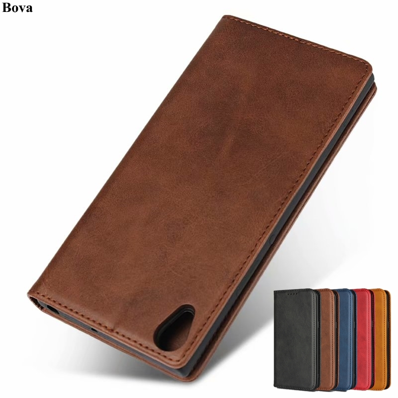 "Leather case For Sony Xperia XA1 Ultra 6.0"" Flip case card holder Holster Magnetic attraction Cover Wallet Case Coque"