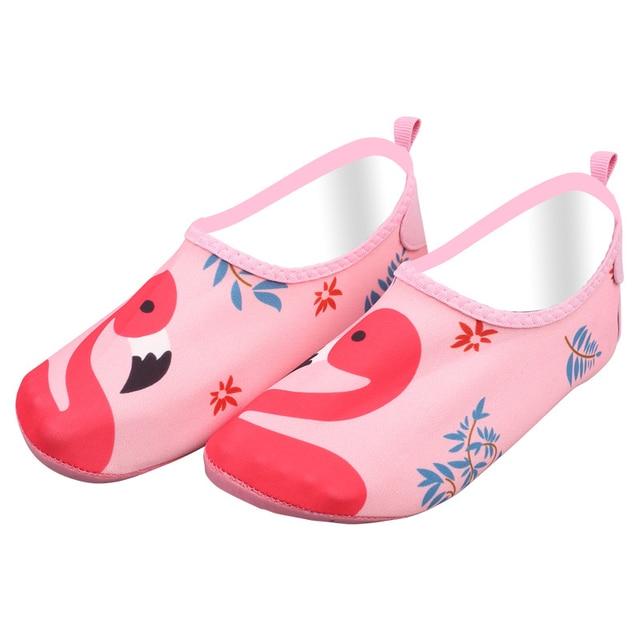 a6b1c1cb196a Boys girls barefoot skin sock pink bird beach aqua shoes pool walking water  socks Gym beach swim slipper surf sea shoes big kids