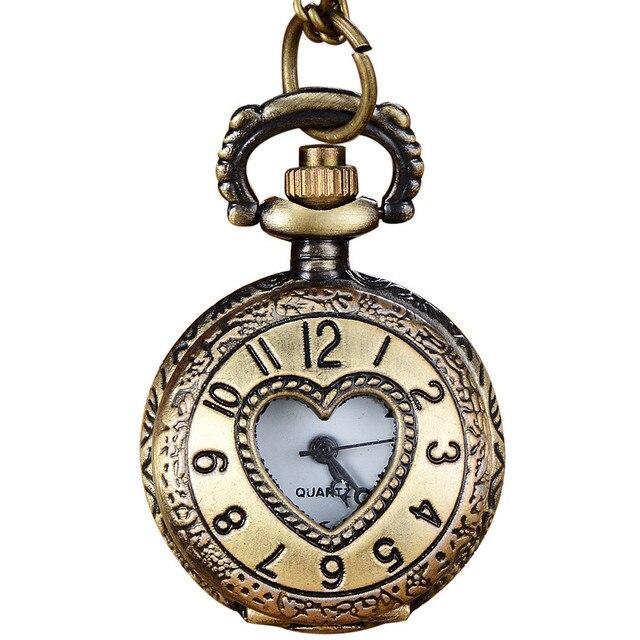 2018 Vintage Bronze Tone Spider Web Design Chain Pendant Men's Pocket Watch Gift