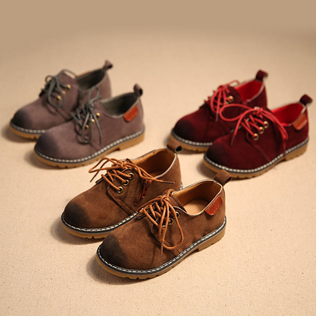 Lace Up Kids Oxfords 2017 British Style Toddlers Boys Leather Shoes Girls Dress Shoes Unisex Dress Shoes