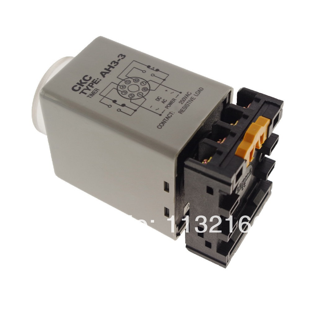 60 Min Power On Time Delay Ah33 3a Timer Relay With 8 Pin Socket