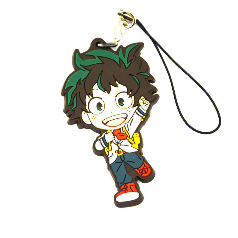 Boku No Hero Academia My Hero Academia Midoriya Izuku Rubber Keychain Pendant Phone Strap Model Toy Gift