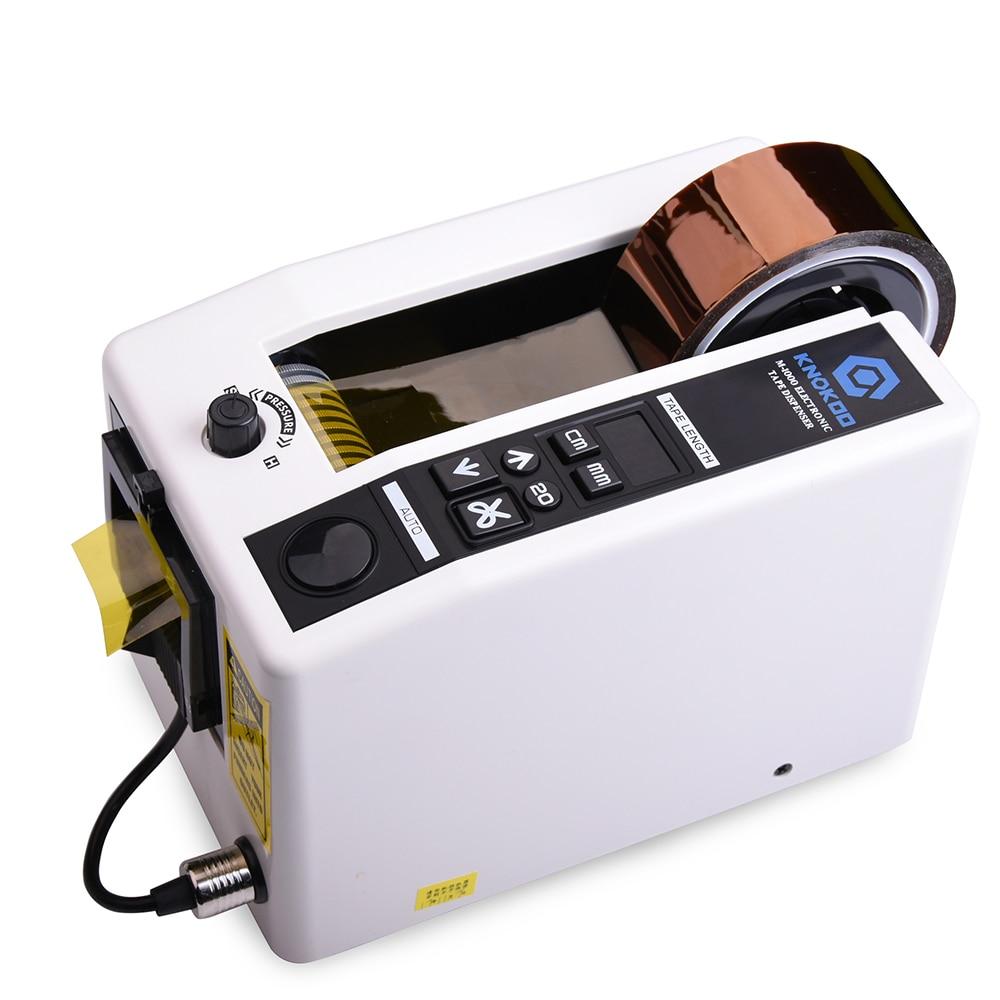 M1000 Automatic Tape Dispenser 7-50mm Width Electric Packing Tape Cutter Machine, M1000 Tape Dispenser knokoo electronic automatic packing tape dispenser at 55 gl3000 tape cutter machine