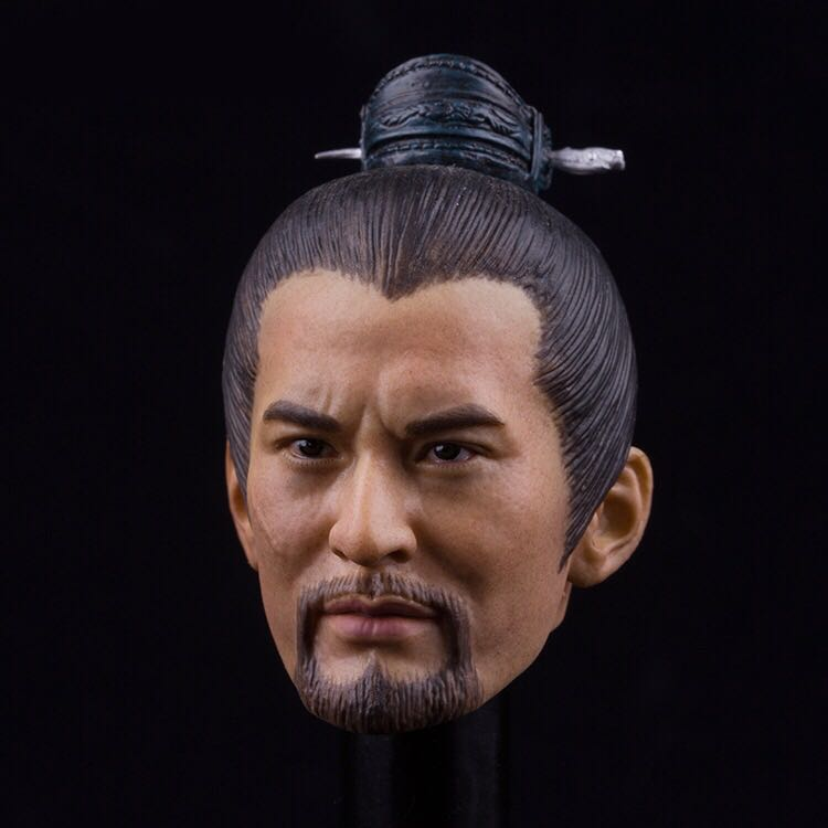"""1:6 Old Man Head Sculpt PVC Carved Asian Man KM18-36 For 12/"""" Action Figure Doll"""