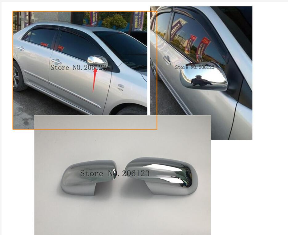 Fit for 2007 2008 2009 2010 2011 Toyota Yaris Chrome Mirror Cover
