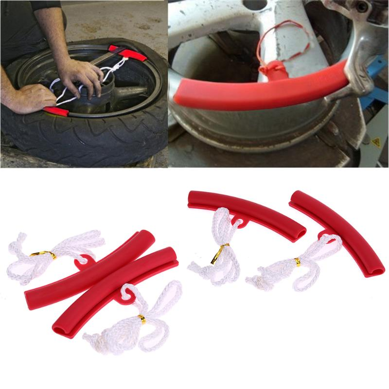 VODOOL 2Pcs Motorcycle Saver Changing Tyre Tire Wheel Rim Edge Protector Motorbike Tire Removal Tool Tire Rims Protective Cover