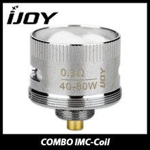 100% Original IJOY COMBO RDTA IMC Coil Head Electronic Cigarette 0.3ohm Supports 40w – 80w COMBO Core IMC-Coil 1/3/5 pieces