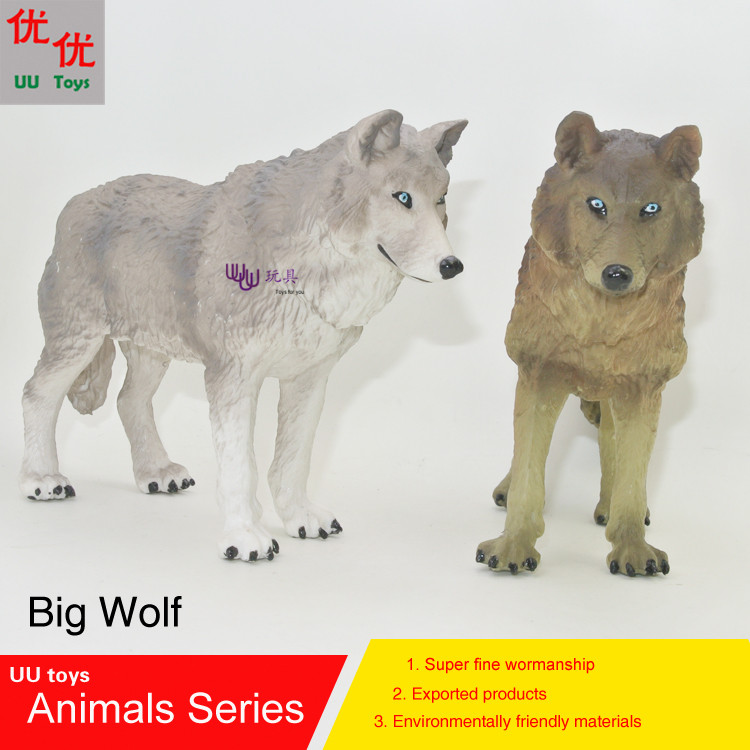 Hot toys:Big Wolf Simulation model  Animals   kids  toys children educational props