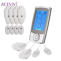 ACEVIVI Pain Tens Unit with 16 Modes 8 Pads Pulse Impulse Rechargeable Relief Massager Digital Pulse Therapy Muscle Full Body