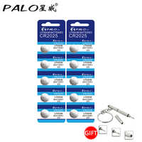10pcs/pack CR2025 Button Batteries Cell Coin Lithium Battery 3V For remote control pedometer calculator car smart key body scale