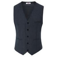 Mens Suit Waistcoat Vest Gilet Slim Fit Business Leisure British Style Vests
