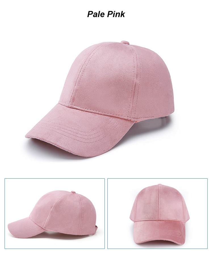 WEARZONE Unisex Soft Suede Baseball Cap Casual Solid Sports Hat Adjustable Breathable Dad Hats for Women Men 21