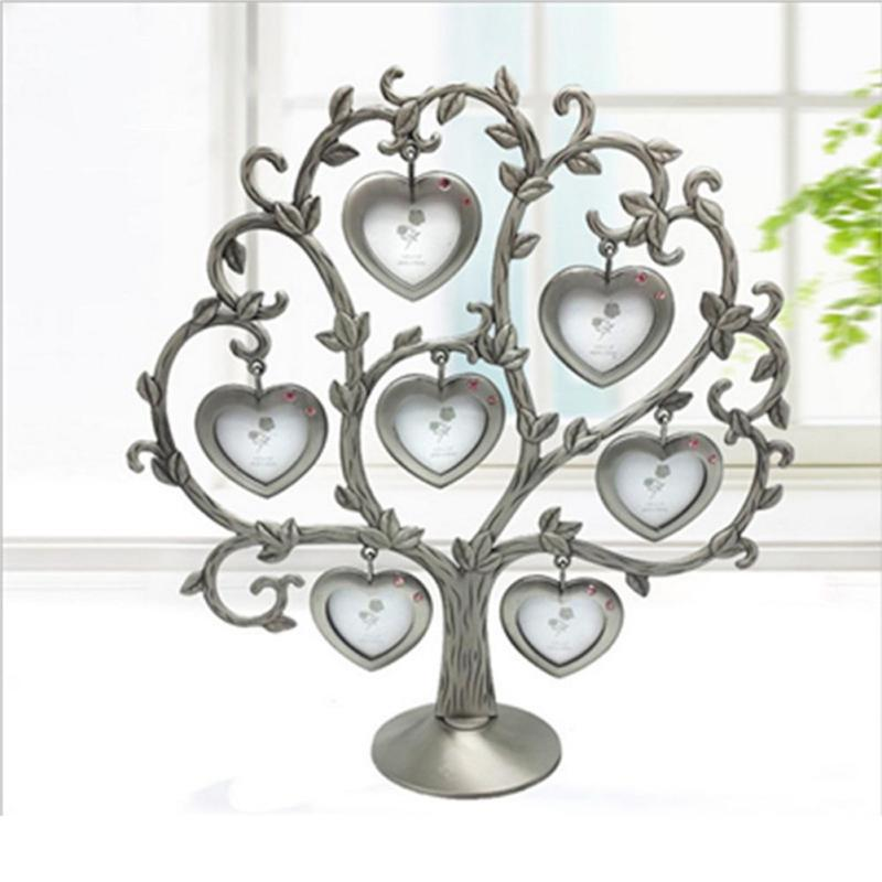 Fashion family tree crystal metal photo frame lovely for Home decor gifts