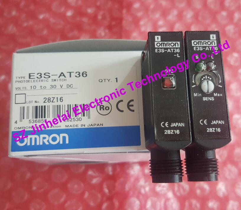 E3S-AT36  New original OMRON photoelectric switch  10-30VDC [zob] new original authentic omron omron photoelectric switch e3s cl2 2m