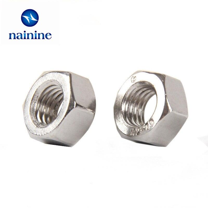 20/50Pcs DIN934 M2 M2.5 M3 M4 M5 M6 M8 304 Stainless Steel Metric Thread Hex Nut Hexagon Nuts HW009