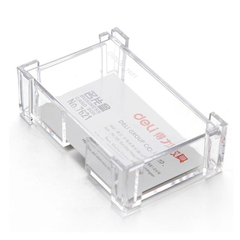 Transparent Large Capacity Desktop Business Card Business Card Case