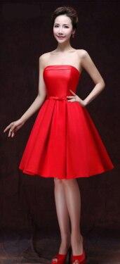 Короткое формальное элегантное короткое изумрудно-зеленое шампанское вино красные вечерние сексуальные женское вечернее платье синие Формальные женские горячие продажи W2905 - Цвет: Красный