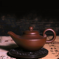 Creative Hand Made purple clay double drainage outlet teapot (260ml) Yi Xing Purple Clay Teapot Zi Sha Hu Ceramic Kungfu teapot