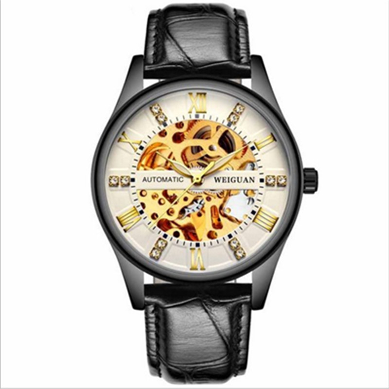 Men Classic Mechanical Watches Automatic Mens Wrist Watch  Luxury Stainless Steel Ultra Thin
