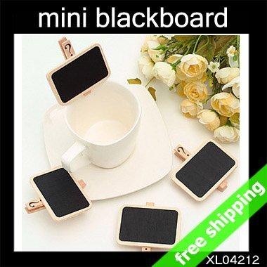 FREE SHIPPING mini blackboard store price show cute Message chalkboard Fashion creative promotion Gift 60pcs/lot say hi XL 04212