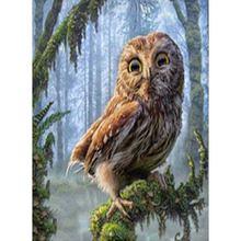 Yikee Алмазная картина животное сова вышивка стразами полностью