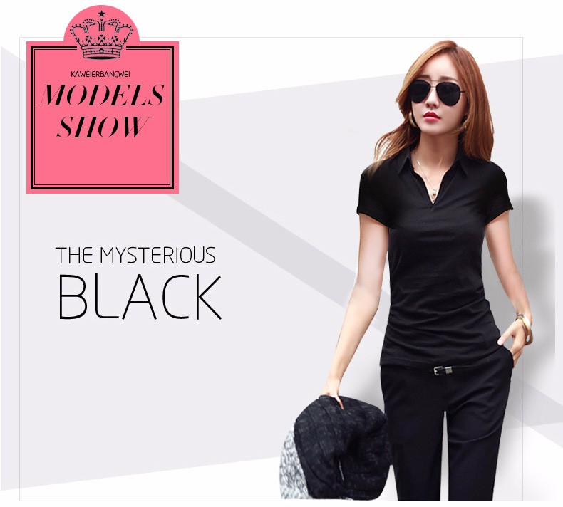 Summer Polo Shirt Women 2016 New Short Sleeve Solid Slim Polos Mujer Shirts Tops Fashion Plus Size Polo Femme 5 Color A192  f