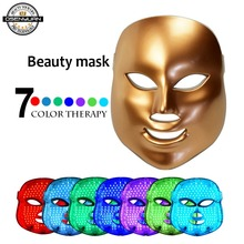 7 Colors LED Facial Mask Face Mask Machine Photon Therapy Light Skin Rejuvenation Acne Facial PDT Skin Care Beauty Mask Home use 7colors photon pdt led light facial mask machine profession acne treatment face whitening skin rejuvenation light therapy beauty