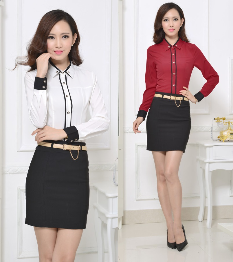 Formal Uniform Design Professional Business Women Suits Tops And ...