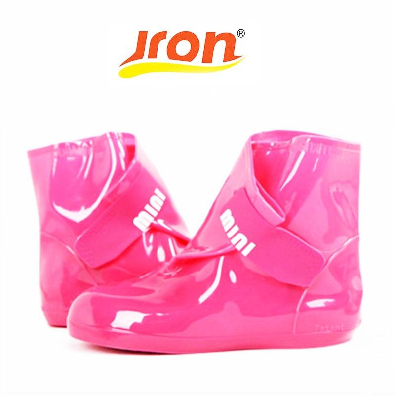 Женские резиновые ботинки, водонепроницаемые, на нескользящей подошве, с толстым каблуком, для дождливой погоды, 3 вида цветов