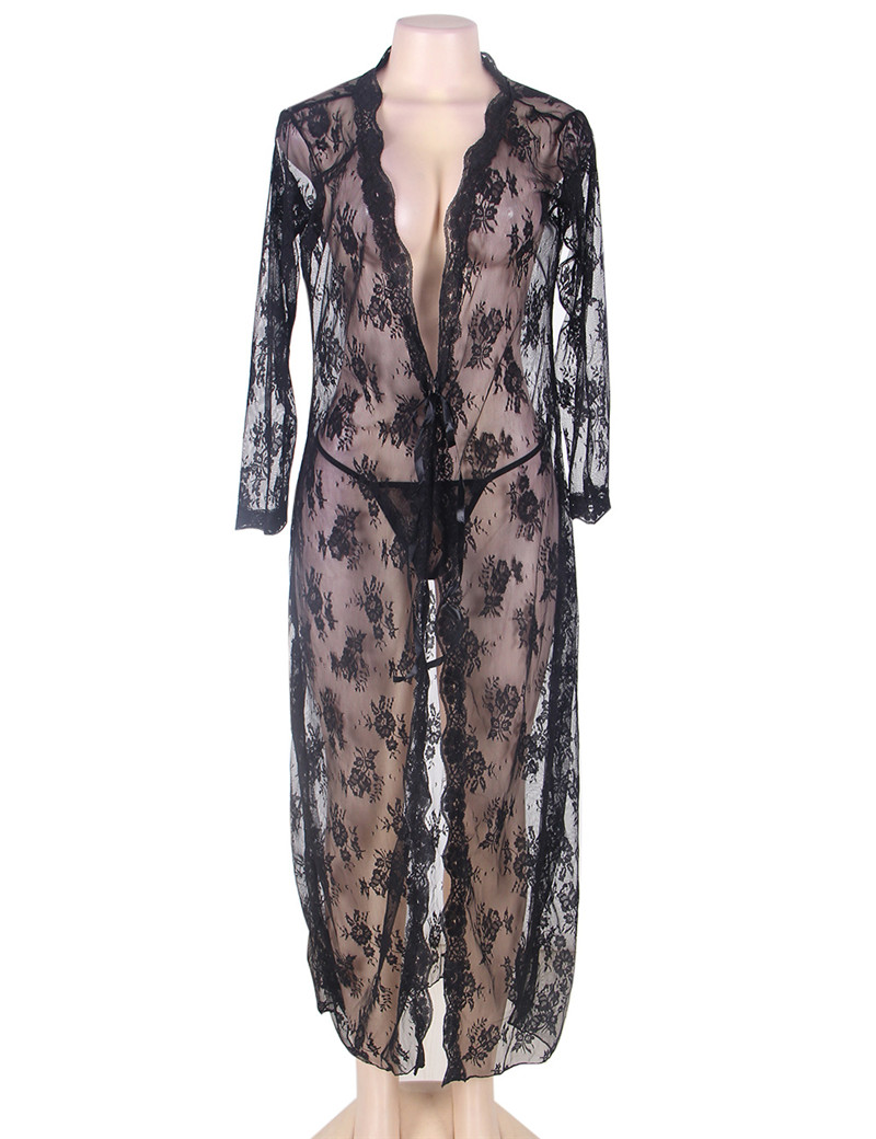 Buy RC80232 2016 Brand New Transparent Lace Lingerie Hot Sexy Women evening gown Black Sheer Floral flower Lace new sexy lingerie