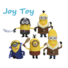 Top quality Despicable Me 3   Action Figure Anime Super Hero Minions Figure Model Toys PVC Brinquedos about 11-18cm 5pcs/set