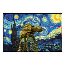 Pop Art Canvas painting  Wall Pictures for Bedroom Decorative Home Decor Van Gogh Starry Painting
