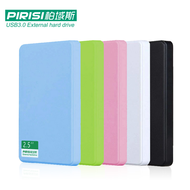 2.5'' PIRISI HDD Slim Colorful USB3.0 External hard drive 160GB/250GB/320GB/500GB Storage Disk wholesale and retail Super Deals 1 8 160gb ssd ce zif pata replace mk1634gal 160gb 1 8 ce zif hdd hard disk drive for ipod classic 7th a1238