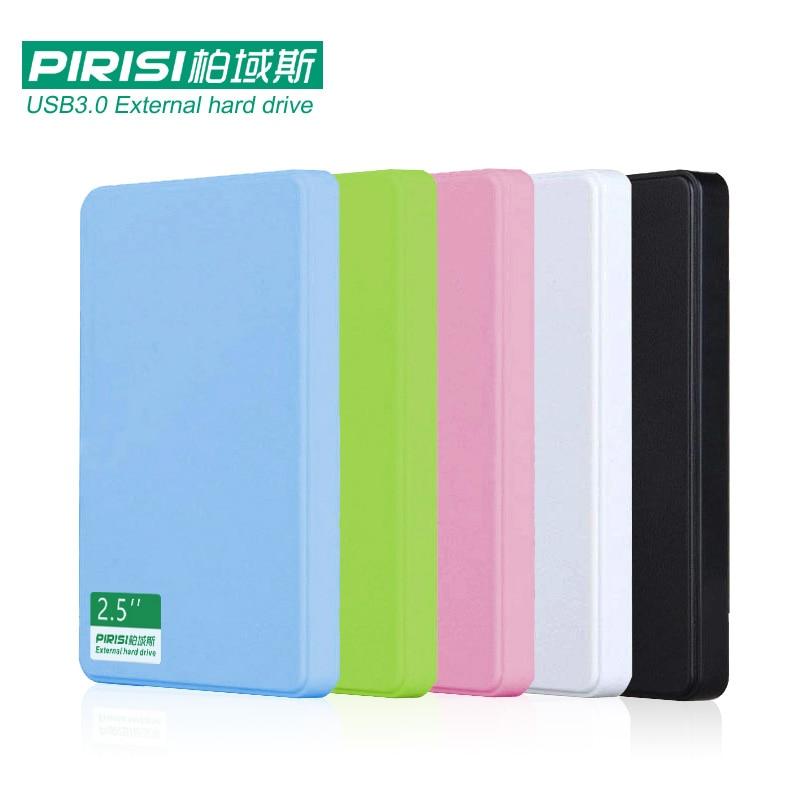 цена на 2.5'' PIRISI HDD Slim Colorful USB3.0 External hard drive 160GB/250GB/320GB/500GB Storage Disk wholesale and retail Super Deals