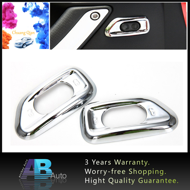 Chuang qian 2pcs chrome interior door handle safety lock switch trim chuang qian 2pcs chrome interior door handle safety lock switch trim panel fit for jeep wrangler planetlyrics Images