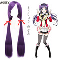 Hot Sale Love Live! Tojo Greek 100cm dark purple double ponytail anime synthetic cosplay wig