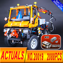 New LEPIN 20019 2088Pcs Technic Truck Unimog U400 Model Building Kits Blocks Funny Bricks Compatible Toys 8110 for Children
