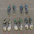 Стерлингового Серебра 925 Япония ювелирные изделия Такахаси Выгравированы Серебро Бирюзовый кулон любителей пера