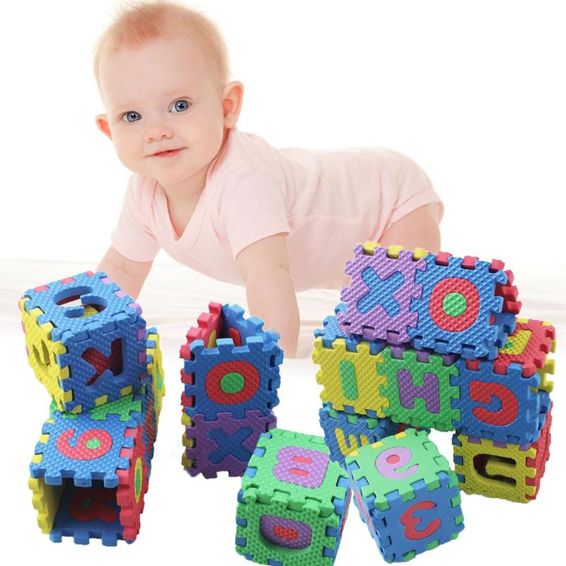 36pcs/set Baby Puzzle Play Mats Infant Early Mini Math Educational Puzzle Kids Alphabet Letters Numeral Foam Play Protection Mat alphabet set magnetic upper case letters 4 by rubbabu
