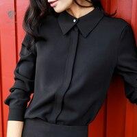 FANSILANEN 2017 New Arrival Casual Spring/Autumn/Winter Women 18 Color Shirts Feminine With Velvet Blouses Chiffon Female Z4198