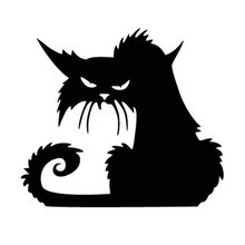 New Halloween Scary Spooky Black Cat Wall Glass Sticker Decoration